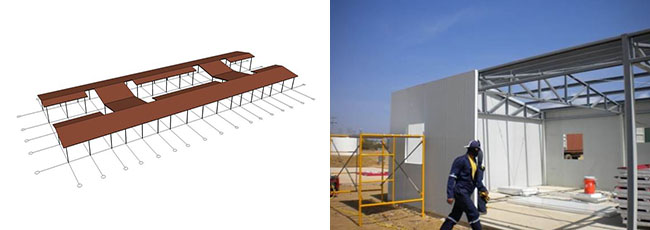 Install the Roof and Wall Panel