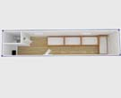 40FT Container House for Accommodation with  Toilet LDC841