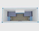 20FT Container House for Accommodation LDC837